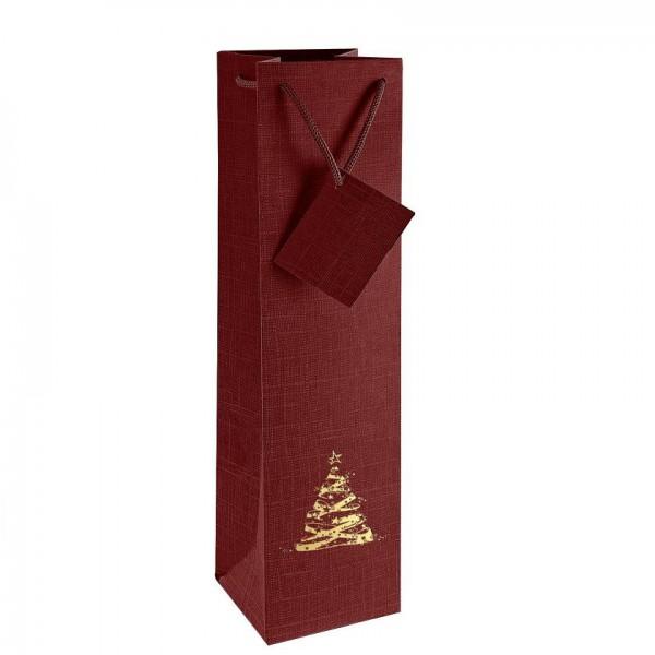 Portugalské víno Taška na 1 láhev vína - Bordeaux s vánočním motivem na eshopu vín z Portugalska
