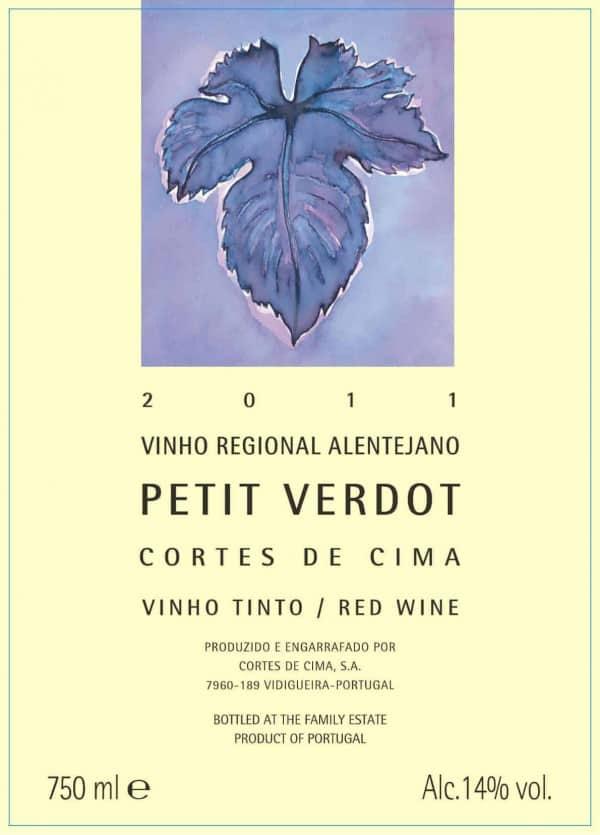 Portugalské červené víno Cortes de Cima Petit Verdot na eshopu vína z Portugalska