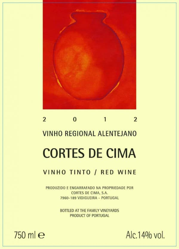 Portugalské červené víno Cortes de Cima Tinto na eshopu vína z Portugalska