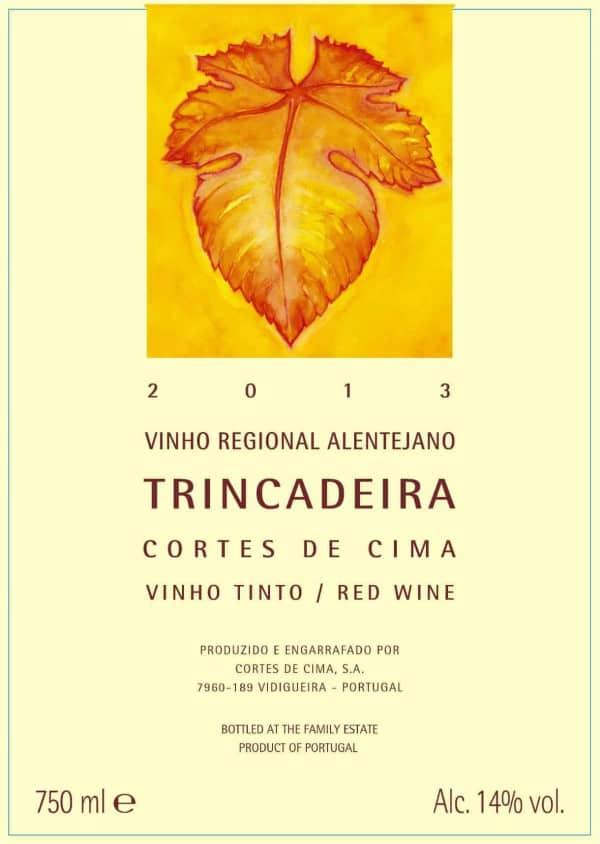 Portugalské červené víno Cortes de Cima Trincadeira na eshopu vína z Portugalska