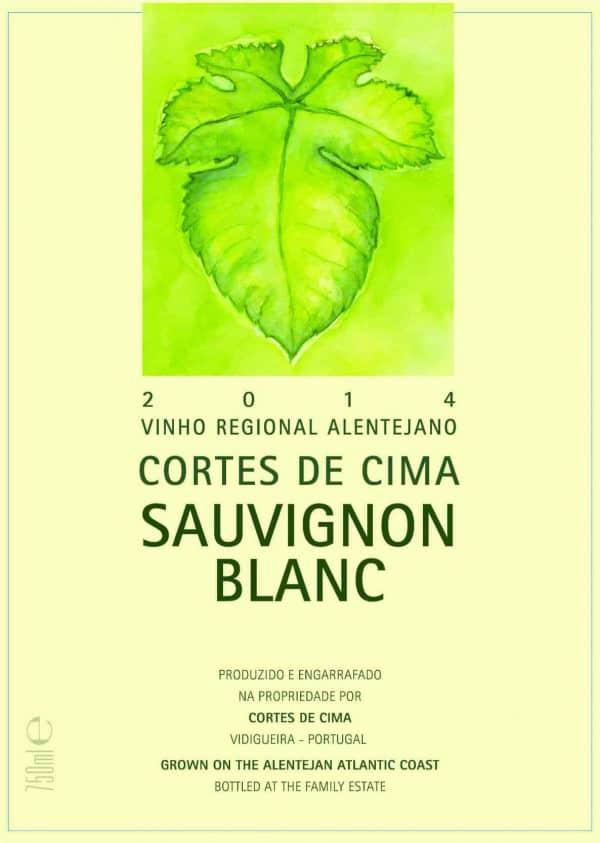 Portugalské bílé víno Cortes de Cima Sauvignon na eshopu vína z Portugalska