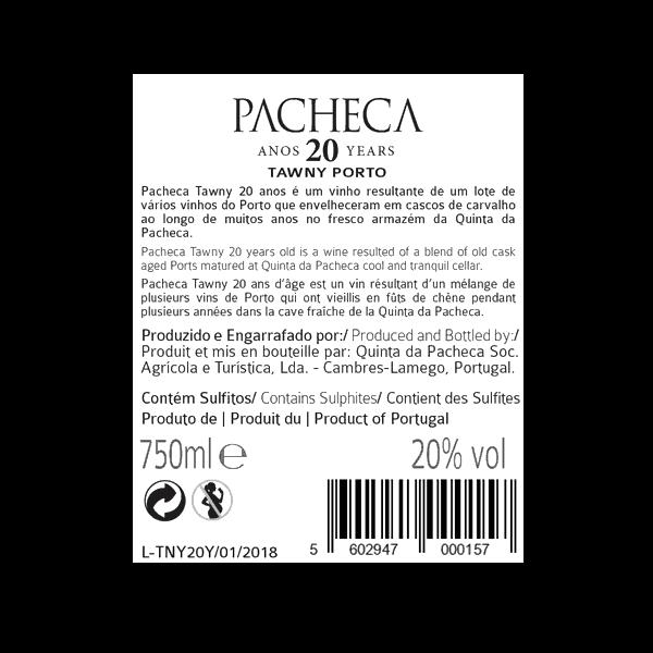 Obrázek Pacheca Port Tawny 20 Years
