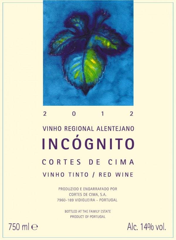 Portugalské červené víno Cortes de Cima Incognito na eshopu vín z Portugalska