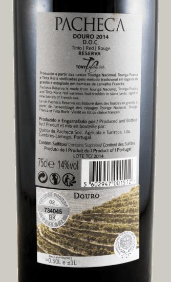 Portugalské červené víno Pacheca Tony Carreira Reserva na eshopu vína z Portugalska