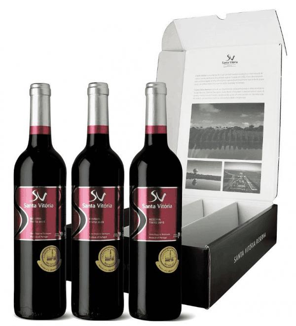 Portugalské víno Dárková Sada Santa Vitória Reserva Tinto na eshopu vín z Portugalska