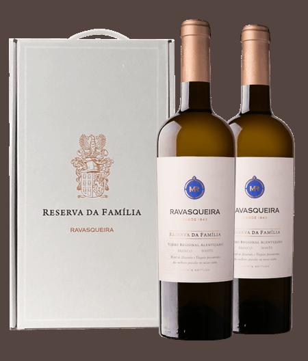 Portugalské bílé víno Monte da Ravasqueira Reserva da Familia Branco box na eshopu vína z Portugalska