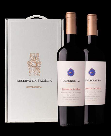 Portugalské červené víno Monte da Ravasqueira Reserva da Familia Tinto box na eshopu vína z Portugalska