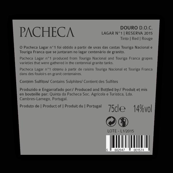 Obrázek Pacheca Lagar Nº1 Reserva Douro D.O.C.