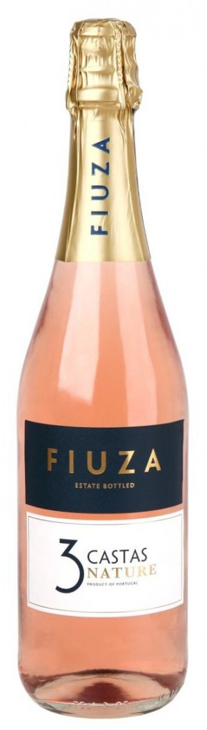 Portugalské šumivé víno Fiuza 3 Castas Nature Rose sekt na eshopu vína z Portugalska