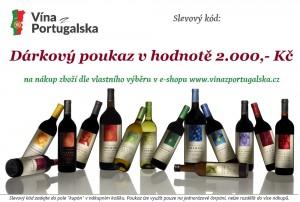 Dárkový poukaz na eshopu vína z Portugalska